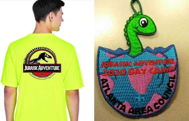 2020 cyber camp shirt and patch